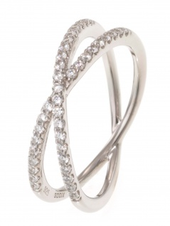 gooix 943-06735-560 Damen Ring Sterling-Silber Silber weiß 56 (17.8)