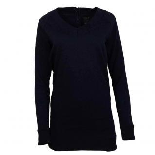 Only Damen Pullover V-Ausschnitt BERYL Long ONeck Tunic Blau Gr L