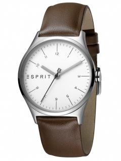 Esprit ES1L034L0025 Essential Silver Brown-L Damenuhr Lederarmband