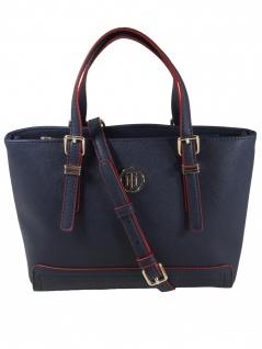 Tommy Hilfiger Damen Handtasche Tasche Honey Small Tote Blau