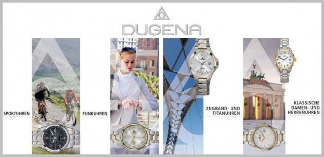 DUGENA 7000100 Premium Uhr Damenuhr Edelstahl Datum weiss - Vorschau 2