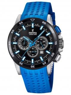 Festina F20353/7 Chronograph Uhr Herrenuhr Kautschuk Chrono Datum Blau - Vorschau