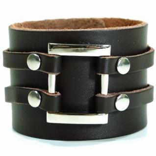 CJBB1906 Herren Armband Leder braun 21, 5 cm