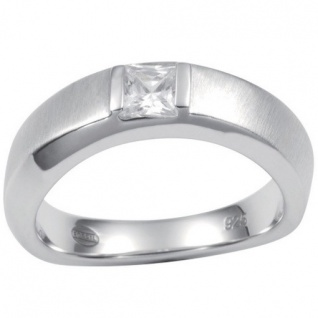 Fossil JF14631 Damen Ring JF 14631 Silber mit Zirkonia weiß Größe 53 (17, 0 mm)