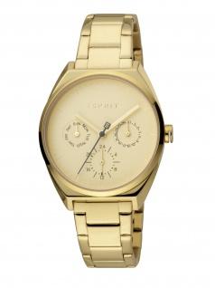 Esprit ES1L060M0065 Slice Multi Uhr Damenuhr Edelstahl Datum Gold