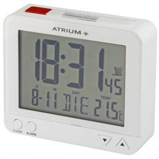 ATRIUM A760-0 Funkwecker Wecker Datum Alarm Digital weiß