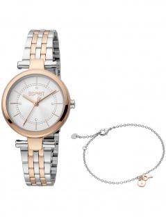 Esprit ES1L281M0095 Laila Silver Rosegold MB Uhr Damenuhr bicolor