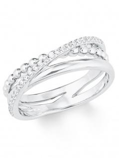 s.Oliver 2022748 Damen Ring Sterling-Silber 925 Silber Weiß 56 (17.8) - Vorschau