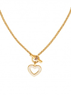 Tommy Hilfiger 2780157 Damen Collier Herz CLASSIC SIGNATURE Gold 45 cm