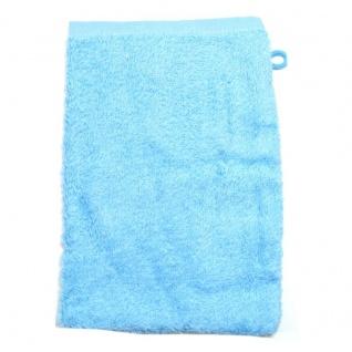 Waschhandschuh Hellblau Frottee 500g/m2 Waschlappen 15 x 21 cm