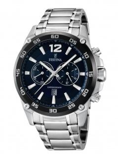 Festina F16680/2 Chronograph Uhr Herrenuhr Edelstahl Datum Silber