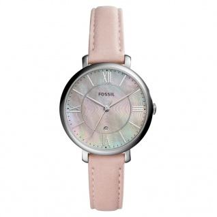 Fossil ES4151 Uhr Damenuhr Lederarmband Datum Rosa