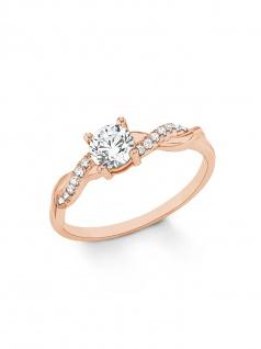 s.Oliver 2021009 Damen Ring Bicolor Rose Weiß 54 (17.2)