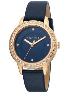 Esprit ES1L163L0055 Harmony Dark Blue Uhr Damenuhr Lederarmband blau