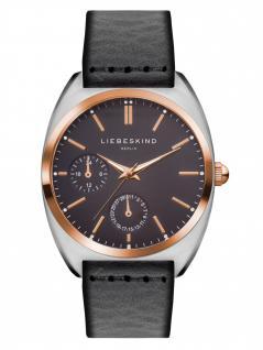 LIEBESKIND LT-0043-LM Uhr Damenuhr Lederarmband Datum Grau
