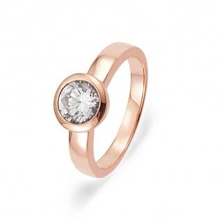 gooix 945-00001-54 Damen Ring Sterling-Silber 925 Rose Weiß 54 (17.2)