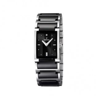 FESTINA F16536/2 KERAMIK Uhr Damenuhr kratzfestes Keramik schwarz