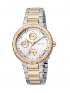 Esprit ES1L226M0055 Yumi Uhr Damenuhr Edelstahl Datum bicolor