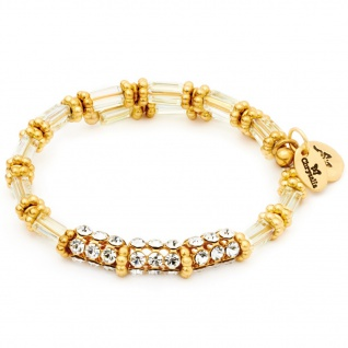 Chrysalis Damen Armreif Gaia Sterne Glas weiß gold 20, 5 cm