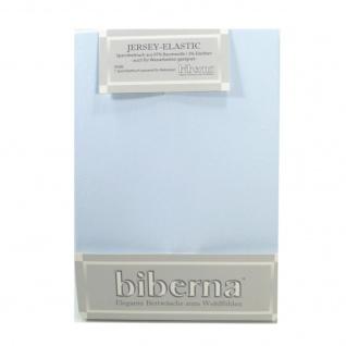 Biberna Jersey Elastic Spannbetttuch Hellblau 120 x 200 - 130 x 220