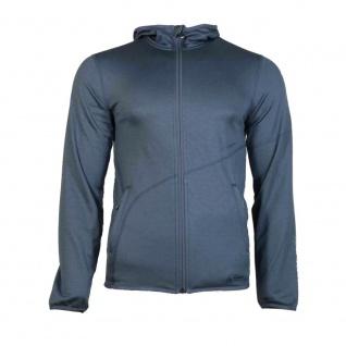 Mammut Fleece Übergangs Jacke Herren Go Far Hooded Jacket Blau Grau L