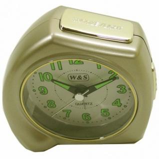 W&S 200902 Wecker Uhr champagner-weiß leise Sekunde Analog Licht Alarm - Vorschau 2