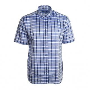 Eterna Herrenhemd Kurzarm Modern Fit Blau Weiß Gr. L/42 2085/15/C25P
