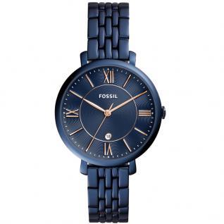 Fossil ES4094 JACQUELINE Uhr Damenuhr Edelstahl Datum Blau