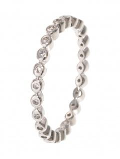 gooix 943-06728-580 Damen Ring Sterling-Silber 925 weiß 58 (18.5)
