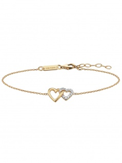 Julie Julsen JJBR0263.3 Damen Armband Herz Sterling-Silber 925 19 cm
