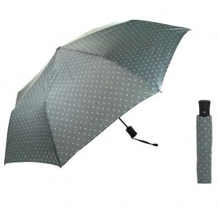 Flash MINI AC Flash printed dots Grau Regenschirm Schirm