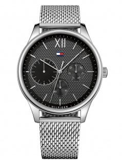 Tommy Hilfiger 1791415 DAMON Uhr Herrenuhr Edelstahl Datum Silber