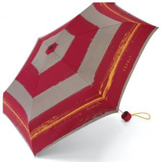 Esprit 50613 Petito Flashstripe Rot gestreift Regenschirm