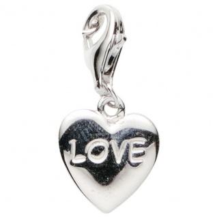 Basic Silber 22.VX148 Damen Charms Herz Silber