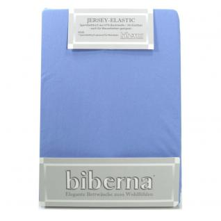 Biberna Jersey Elastic Spannbetttuch Mittelblau 120 x 200 - 130 x 220