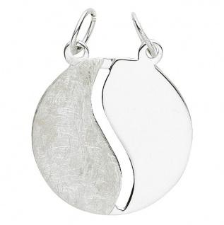 Basic Silber 29.1070S Damen Anhänger Partneranhänger Silber