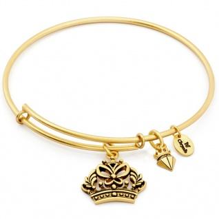 Chrysalis Damen Armreif Krone SPIRITED Messing gold 22 cm