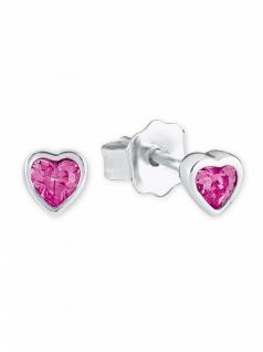 Prinzessin Lillifee 2021055 Mädchen Ohrstecker Herz Silber Pink