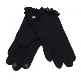 Esprit 116EA1R006-E001 Felted Gloves Schwarz Finger Handschuhe S - Vorschau