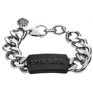 Diesel DX1010 Herren Armband STEEL Edelstahl Schwarz 22 cm