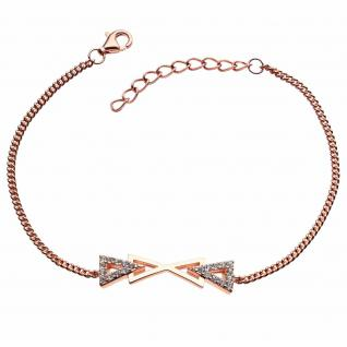 GOOIX 914-06386 Damen Armband Sterling-Silber 925 Rose Weiß 20 cm