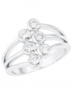 s.Oliver 2024239 Damen Ring Sterling-Silber 925 Silber Weiß 58 (18.5)