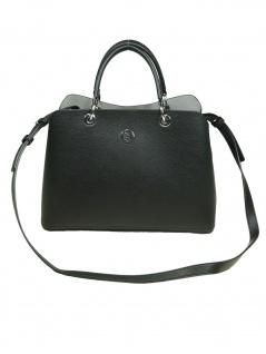 Tommy Hilfiger Damen Handtasche Tasche TH Core Satchel Schwarz