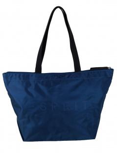 Esprit Damen Handtasche Tasche Shopper Cleo Shopper Blau