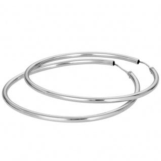 Basic Silber Damen SCR39 Creolen Silber Ohrschmuck