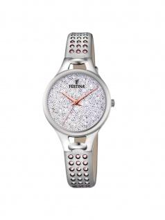 FESTINA F20407/1 Uhr Damenuhr Lederarmband Silber