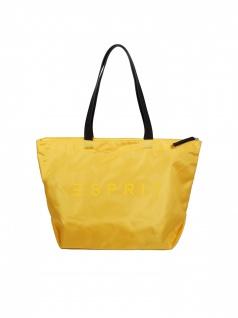 Esprit Damen Handtasche Tasche Henkeltasche Cleo Shopper Gelb