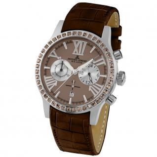 Jacques Lemans 1-1810C Chronograph Uhr Damenuhr Chrono Datum braun