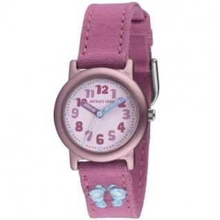 JACQUES FAREL ORG2222 Öko - Kinder Uhr Schmetterling Mädchen rosa