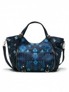 Desigual Damen Handtasche Tasche Henkeltasche THALASSA ROTTERDAM Blau